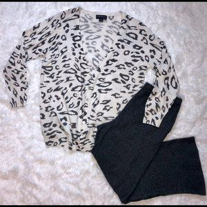 Black & White Leopard Cardigan